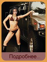 Стриптиз-шоу в лимузине с участием Кристин Cheetah-ra